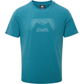 Mountain Equipment Groundup Logo+ T-shirt Heren, tasman blue